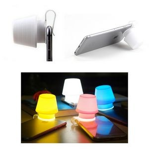 2 in 1 Night Light Silicone Mobile Phone Lamp & Phone Stand